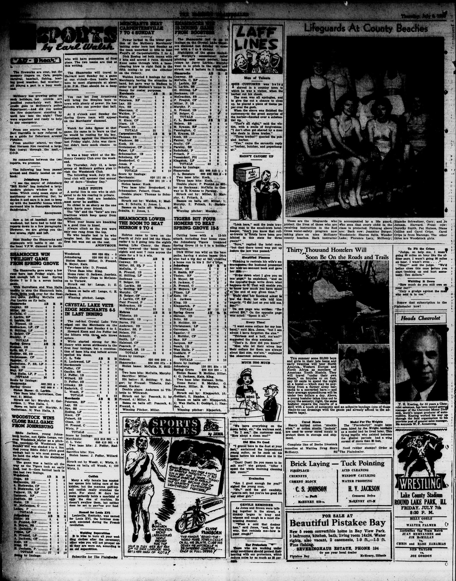 McHenry Plaindealer (McHenry, IL), 6 Jul 1950