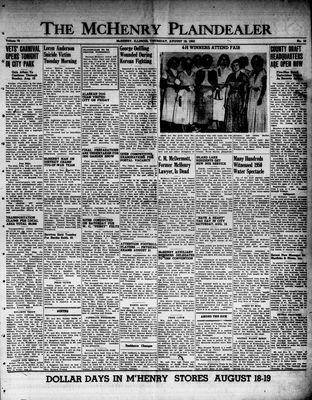 McHenry Plaindealer (McHenry, IL), 10 Aug 1950