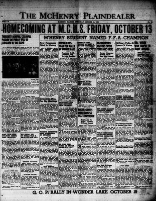 McHenry Plaindealer (McHenry, IL), 12 Oct 1950