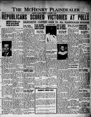 McHenry Plaindealer (McHenry, IL), 9 Nov 1950