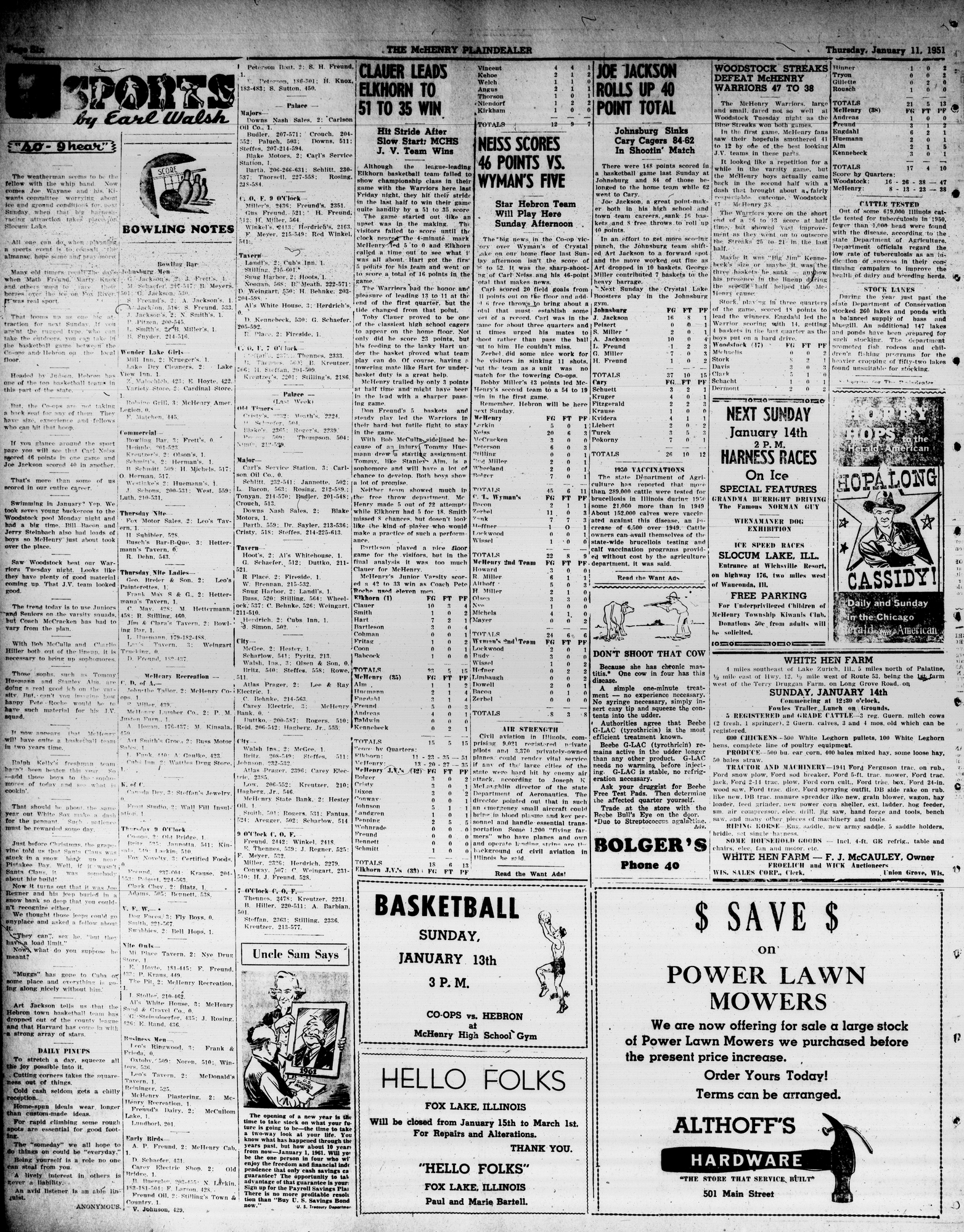 McHenry Plaindealer (McHenry, IL), 11 Jan 1951