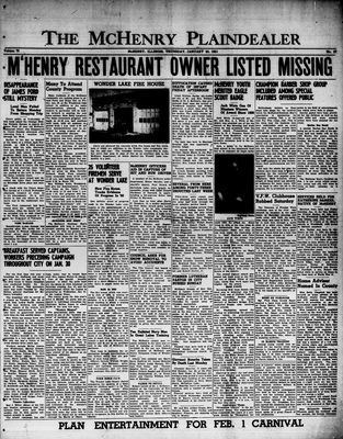 McHenry Plaindealer (McHenry, IL), 25 Jan 1951