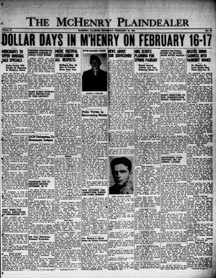 McHenry Plaindealer (McHenry, IL), 15 Feb 1951