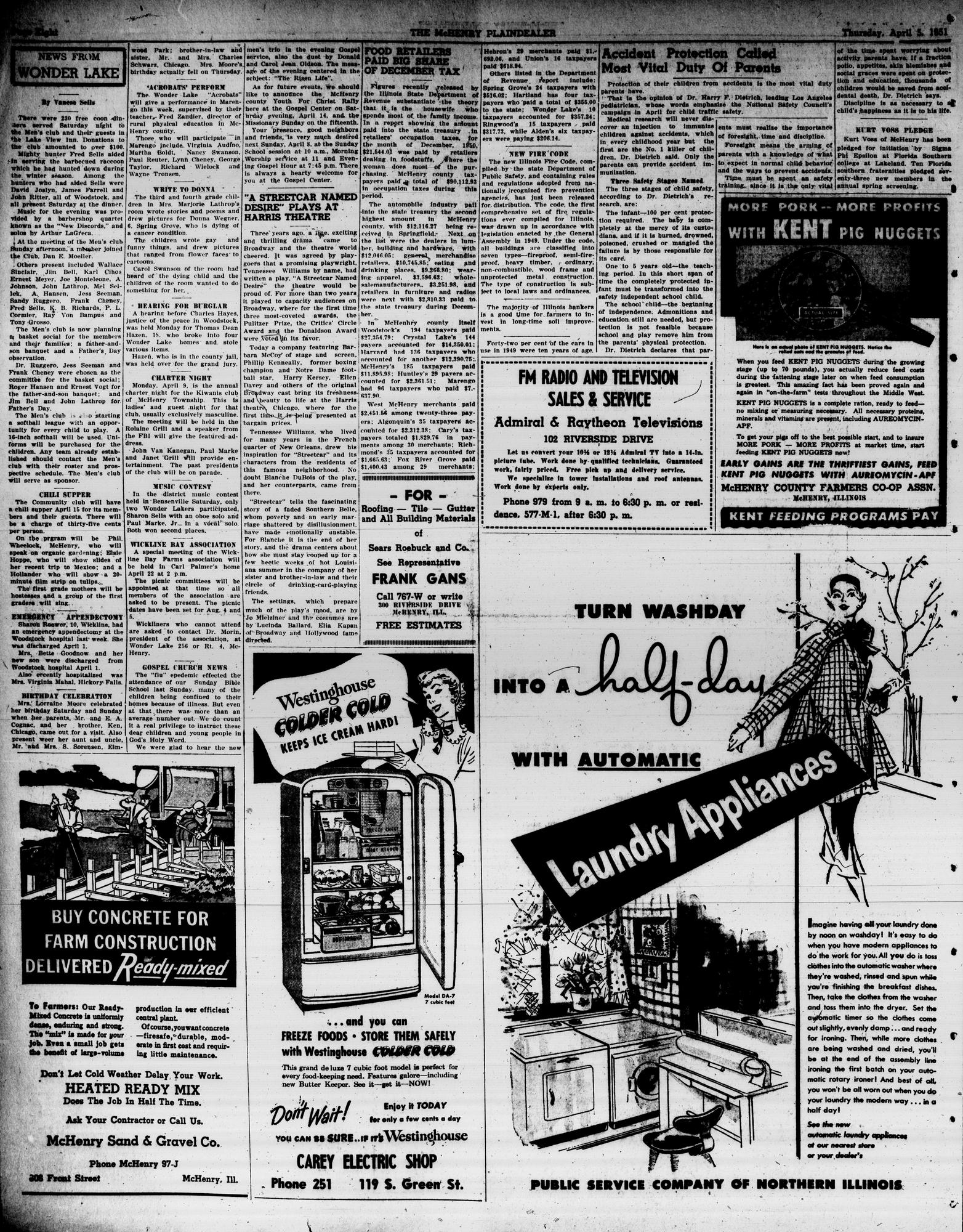 McHenry Plaindealer (McHenry, IL), 5 Apr 1951