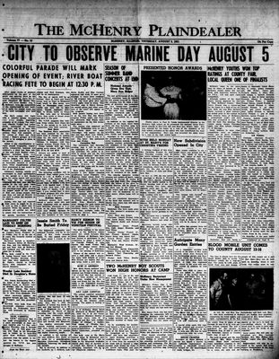 McHenry Plaindealer (McHenry, IL), 2 Aug 1951