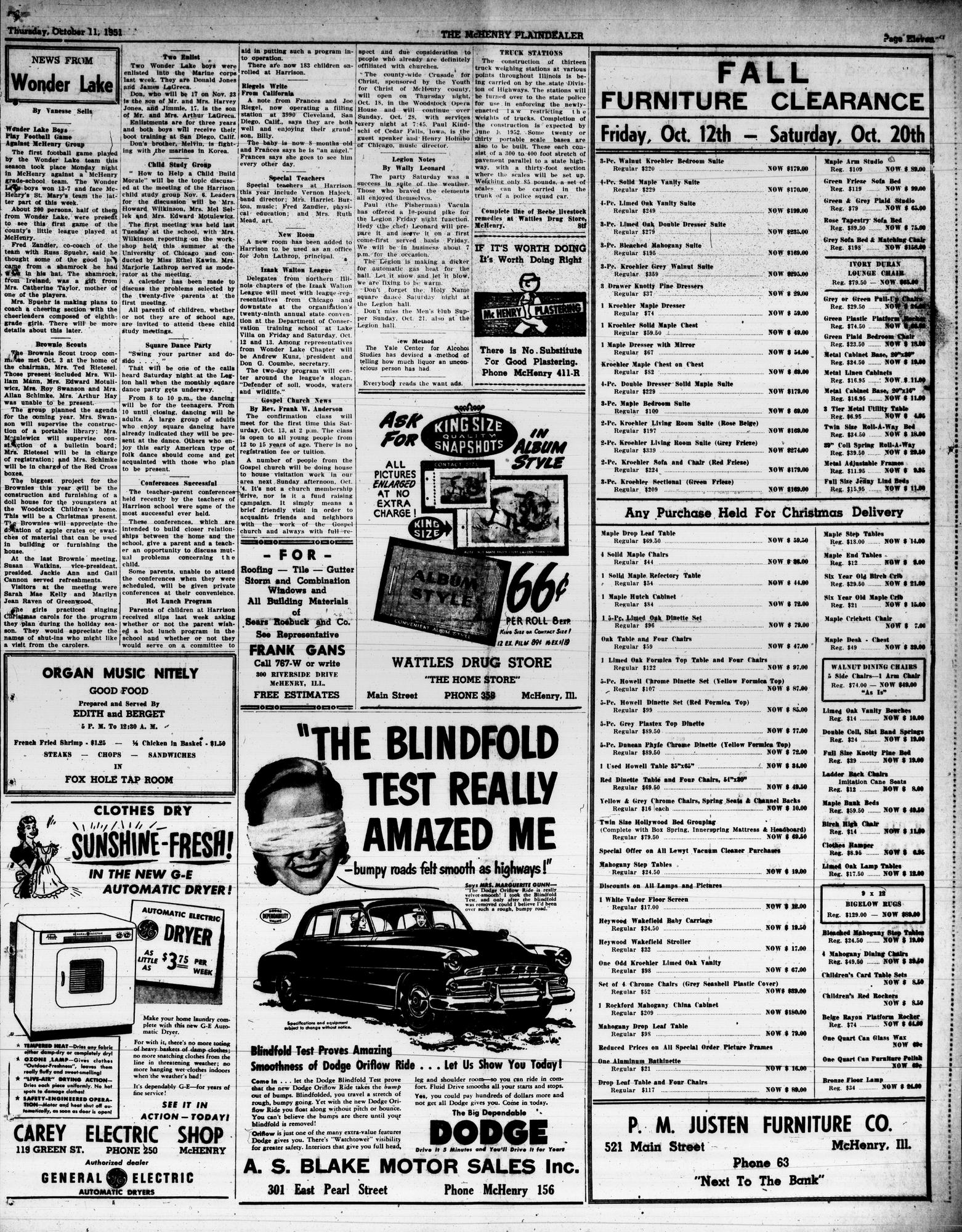 McHenry Plaindealer (McHenry, IL), 11 Oct 1951