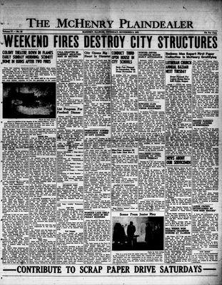 McHenry Plaindealer (McHenry, IL), 8 Nov 1951