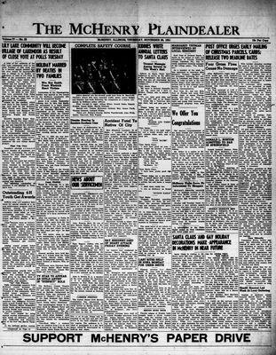 McHenry Plaindealer (McHenry, IL), 29 Nov 1951