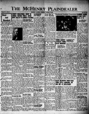 McHenry Plaindealer (McHenry, IL), 13 Mar 1952