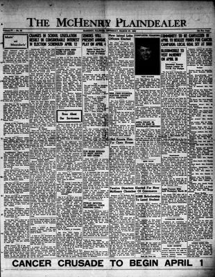 McHenry Plaindealer (McHenry, IL), 27 Mar 1952