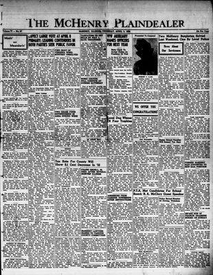 McHenry Plaindealer (McHenry, IL), 3 Apr 1952