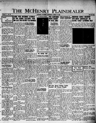 McHenry Plaindealer (McHenry, IL), 17 Apr 1952