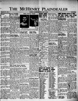McHenry Plaindealer (McHenry, IL), 15 May 1952