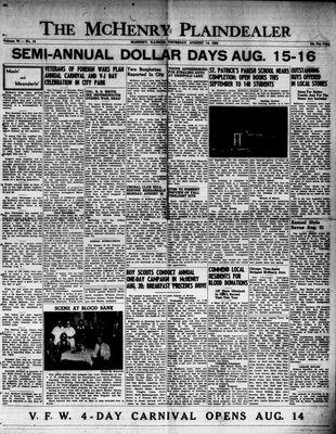 McHenry Plaindealer (McHenry, IL), 14 Aug 1952