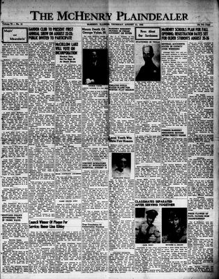 McHenry Plaindealer (McHenry, IL), 21 Aug 1952