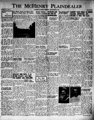 McHenry Plaindealer (McHenry, IL), 18 Sep 1952