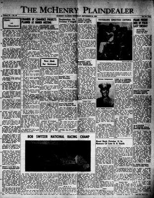 McHenry Plaindealer (McHenry, IL), 25 Sep 1952
