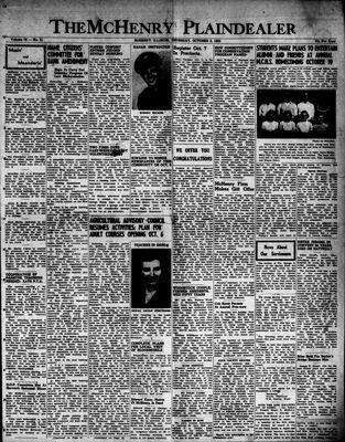 McHenry Plaindealer (McHenry, IL), 2 Oct 1952
