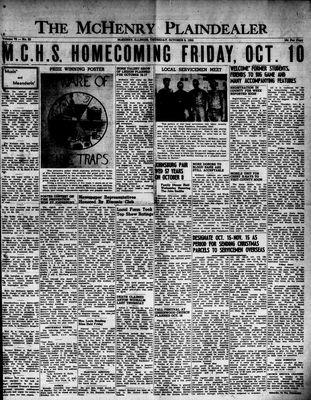 McHenry Plaindealer (McHenry, IL), 9 Oct 1952