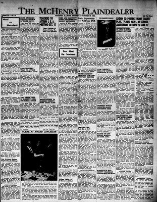 McHenry Plaindealer (McHenry, IL), 16 Oct 1952