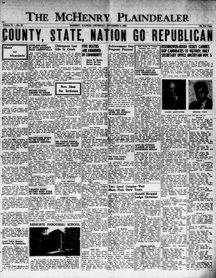 McHenry Plaindealer (McHenry, IL), 6 Nov 1952