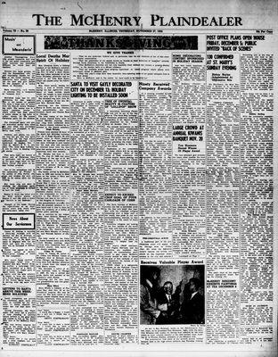 McHenry Plaindealer (McHenry, IL), 27 Nov 1952
