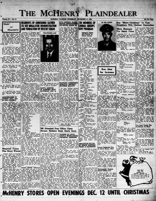 McHenry Plaindealer (McHenry, IL), 11 Dec 1952