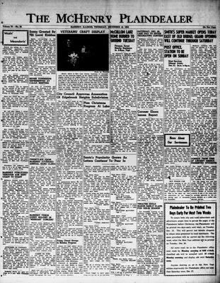 McHenry Plaindealer (McHenry, IL), 18 Dec 1952
