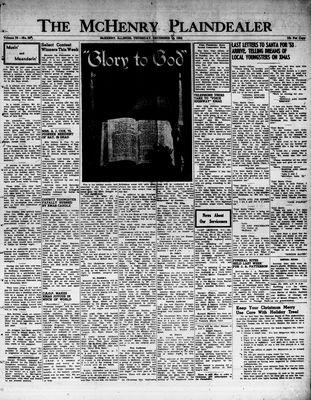 McHenry Plaindealer (McHenry, IL), 25 Dec 1952