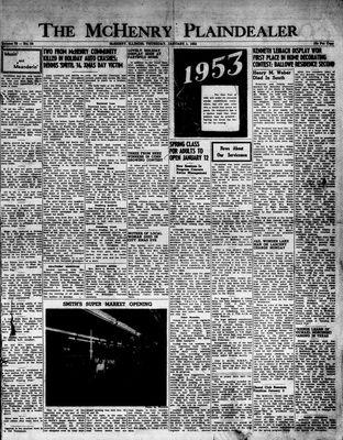 McHenry Plaindealer (McHenry, IL), 1 Jan 1953