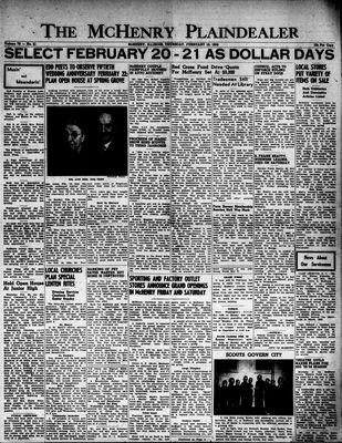 McHenry Plaindealer (McHenry, IL), 19 Feb 1953