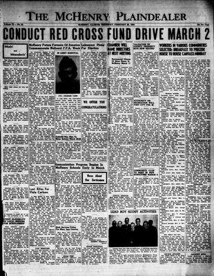 McHenry Plaindealer (McHenry, IL), 26 Feb 1953