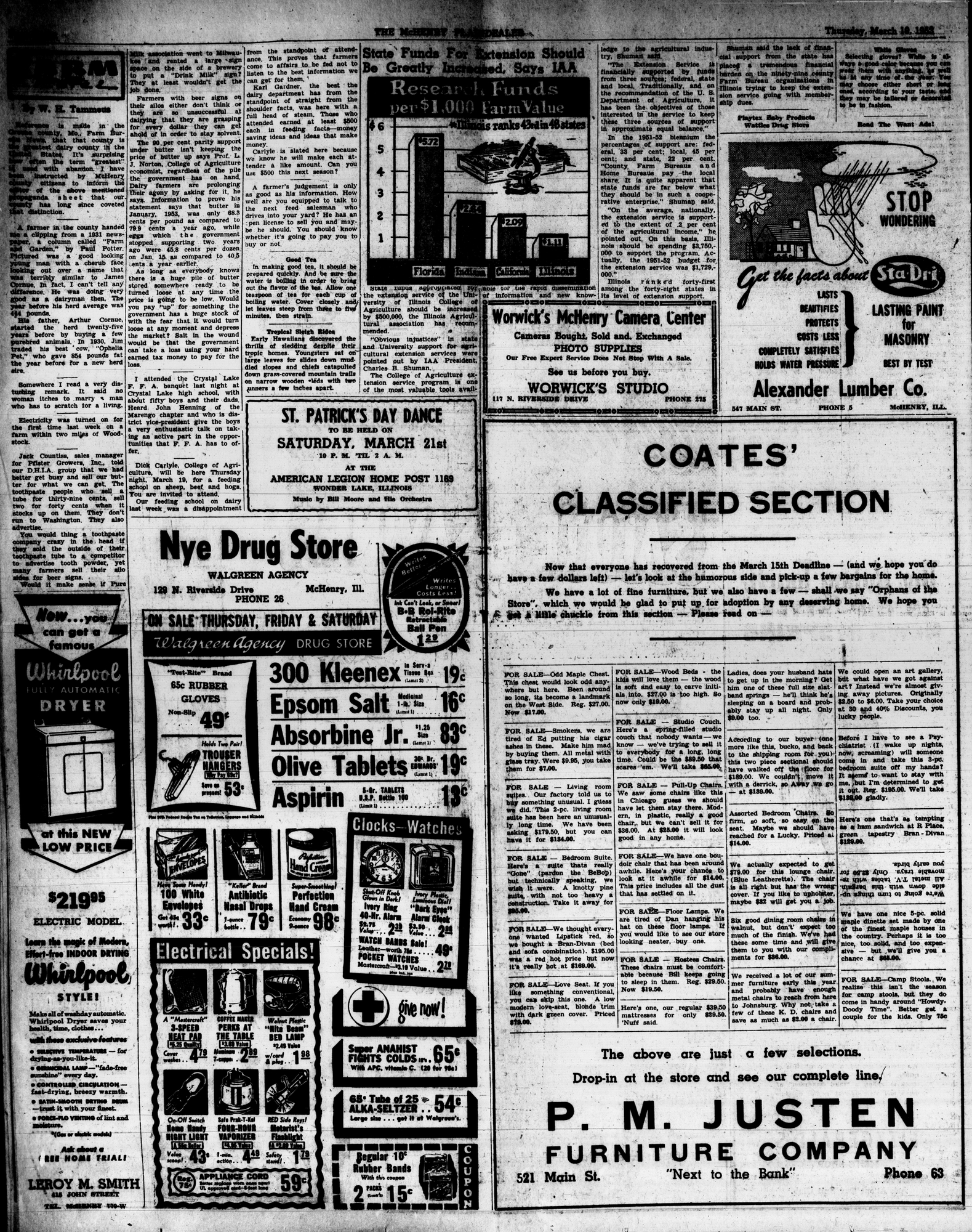 McHenry Plaindealer (McHenry, IL), 19 Mar 1953