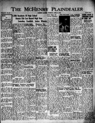 McHenry Plaindealer (McHenry, IL), 16 Apr 1953