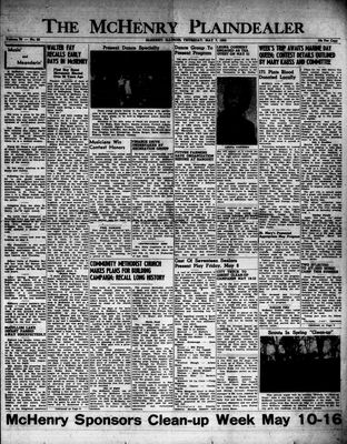 McHenry Plaindealer (McHenry, IL), 7 May 1953