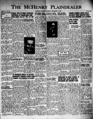 McHenry Plaindealer (McHenry, IL), 17 Sep 1953