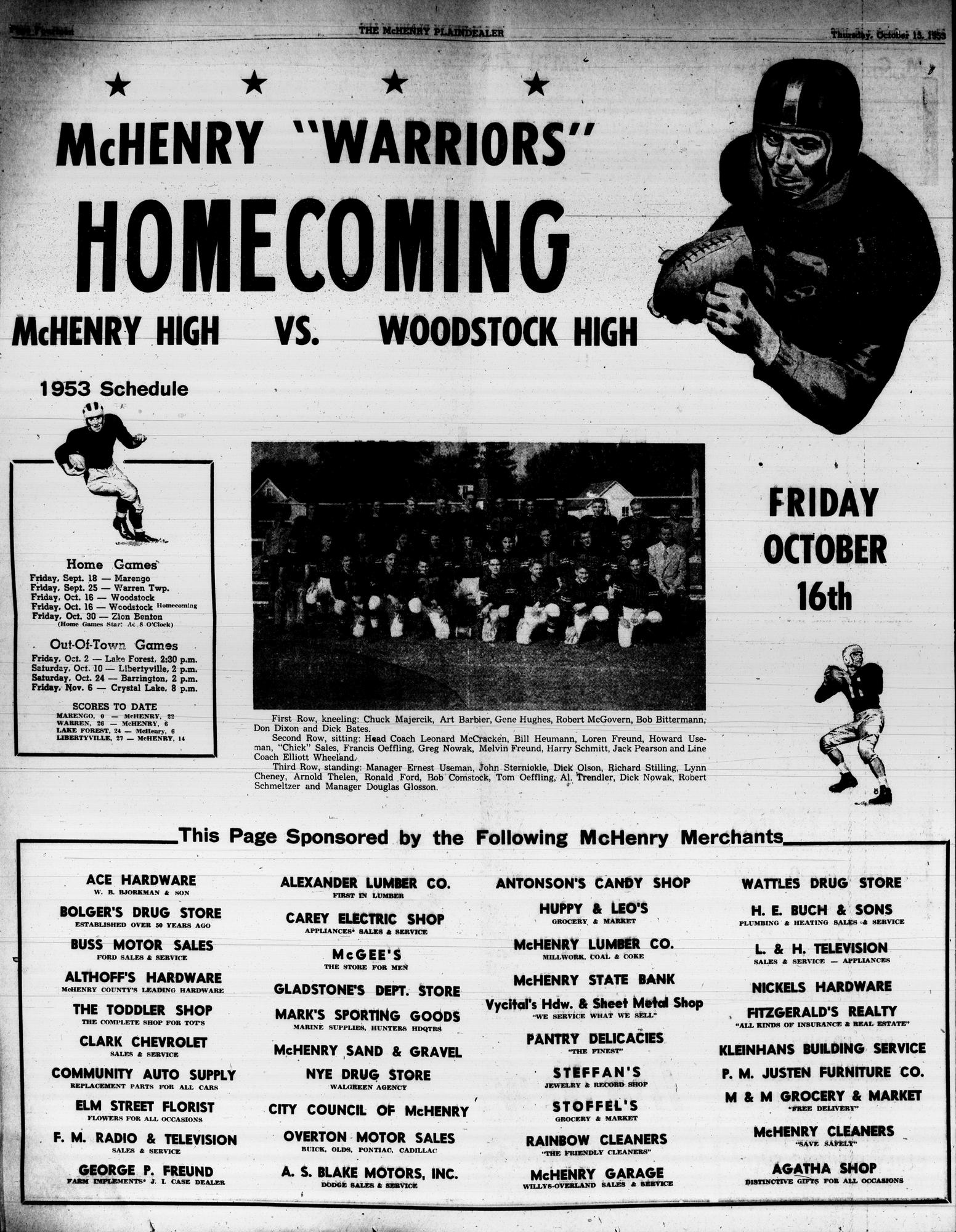 McHenry Plaindealer (McHenry, IL), 15 Oct 1953