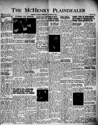 McHenry Plaindealer (McHenry, IL), 29 Oct 1953