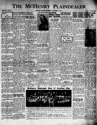 McHenry Plaindealer (McHenry, IL), 5 Nov 1953