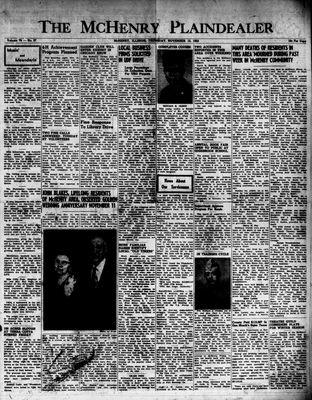 McHenry Plaindealer (McHenry, IL), 12 Nov 1953