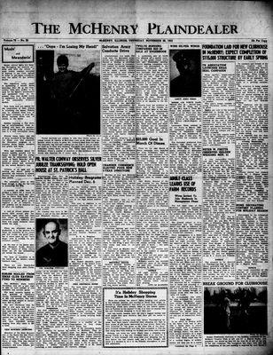 McHenry Plaindealer (McHenry, IL), 26 Nov 1953