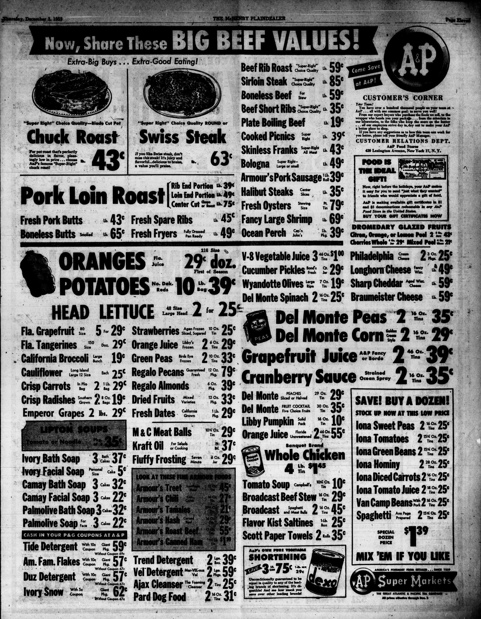 McHenry Plaindealer (McHenry, IL), 3 Dec 1953