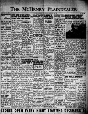 McHenry Plaindealer (McHenry, IL), 10 Dec 1953