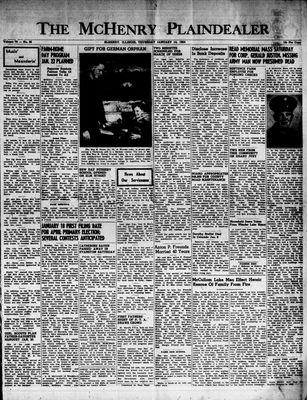 McHenry Plaindealer (McHenry, IL), 14 Jan 1954