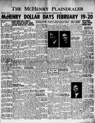 McHenry Plaindealer (McHenry, IL), 18 Feb 1954
