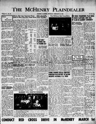 McHenry Plaindealer (McHenry, IL), 25 Feb 1954