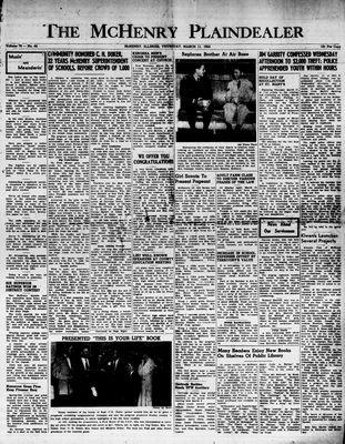McHenry Plaindealer (McHenry, IL), 11 Mar 1954