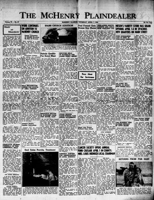 McHenry Plaindealer (McHenry, IL), 1 Apr 1954