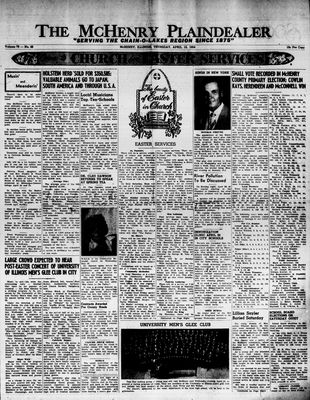 McHenry Plaindealer (McHenry, IL), 15 Apr 1954