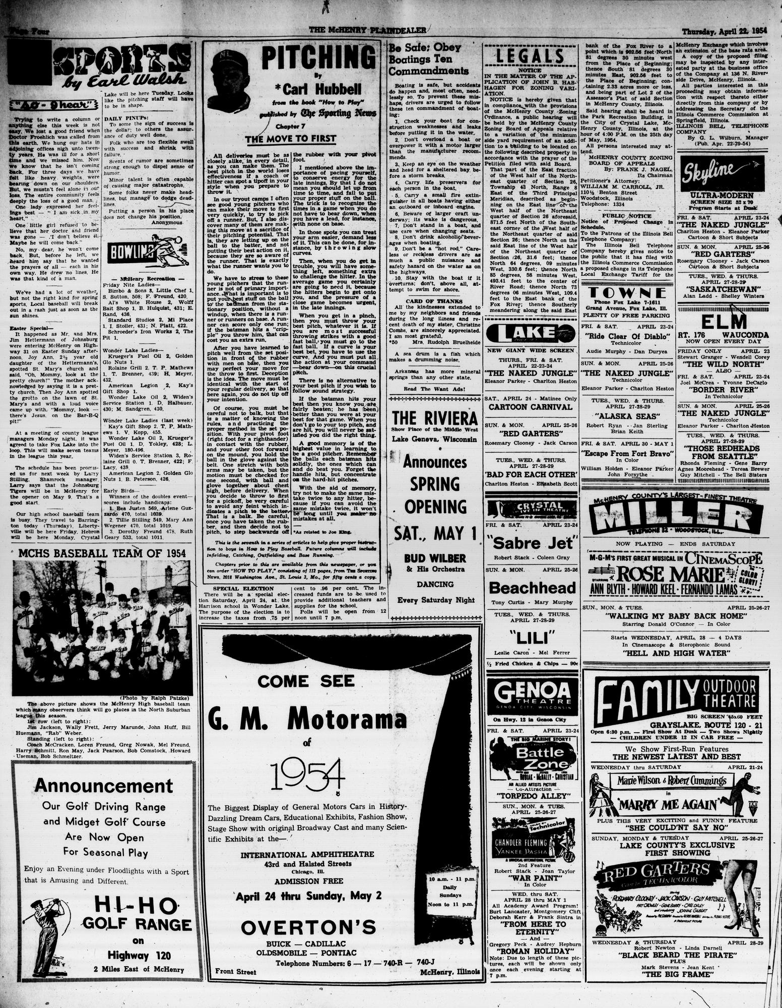 McHenry Plaindealer (McHenry, IL), 22 Apr 1954